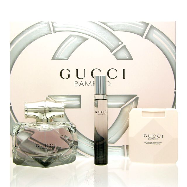Gucci Bamboo Luxus Set Eau de Parfum 75 ml + 7,4 ml + BL...