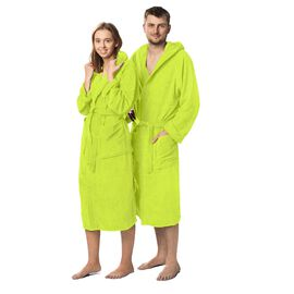 Lanudo® Unisex-Bademantel Pure Line Lime XL