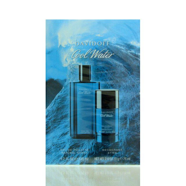 Davidoff Cool Water Men Set - EDT 125 ml + DS 75 g
