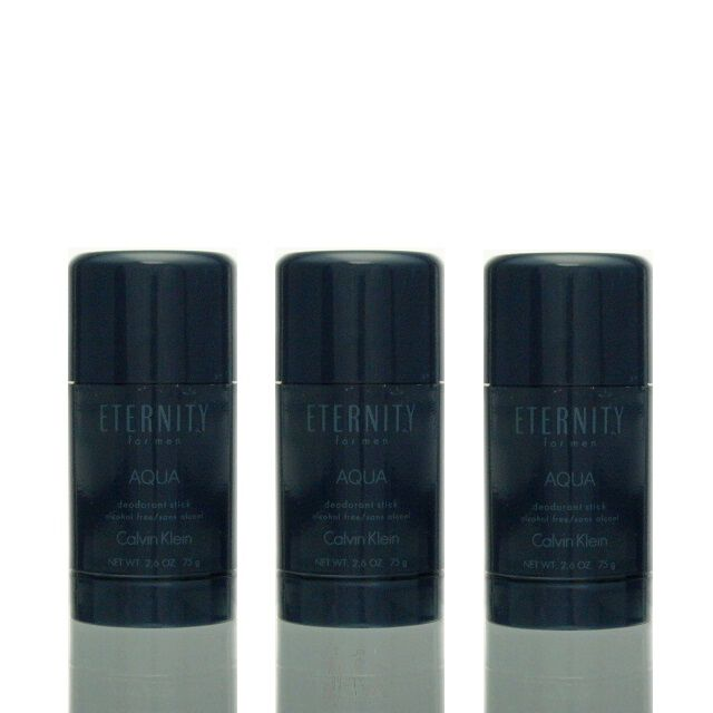 3x Calvin Klein Eternity Aqua for Men Deodorant Stick 75 ml = 225 ml