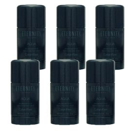 6x Calvin Klein Eternity Aqua for Men Deodorant Stick 75...