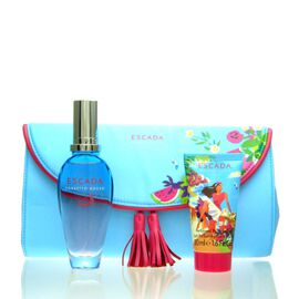 Escada Sorbetto Rosso Set - EDT 50 ml + BL 50 ml + Tasche