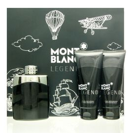 Mont Blanc Legend Set - EDT 100 ml + ASB 100 ml + SG 100 ml