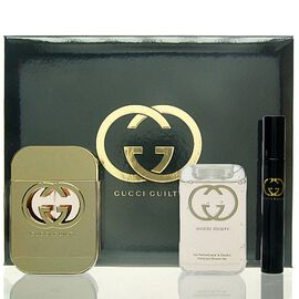 Gucci Guilty Woman SET - EDT 75 ml + SG 100 ml + Mini 7,4 ml