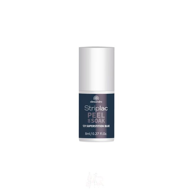 Alessandro Striplac Peel or Soak 121 Superstition Blue 8 ml