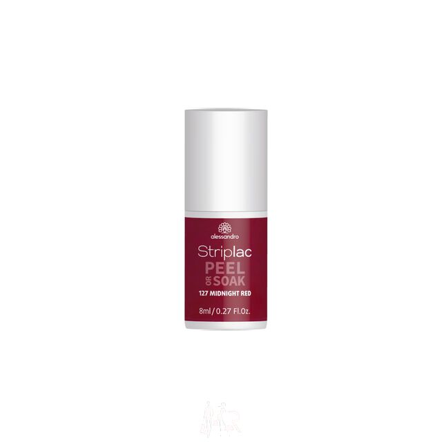 Alessandro Striplac Peel or Soak 127 Midnight Red 8 ml
