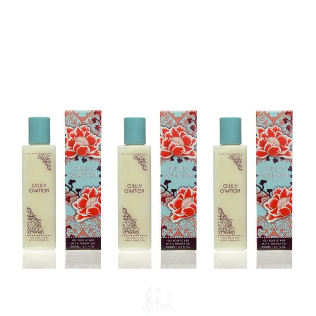 3x Oilily Ovation Bath & Shower Gel 200 ml = 600 ml