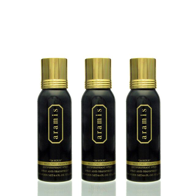 3x Aramis 24 Hour High Performance Antiperspirant Deo Spray 200 ml = 600 ml
