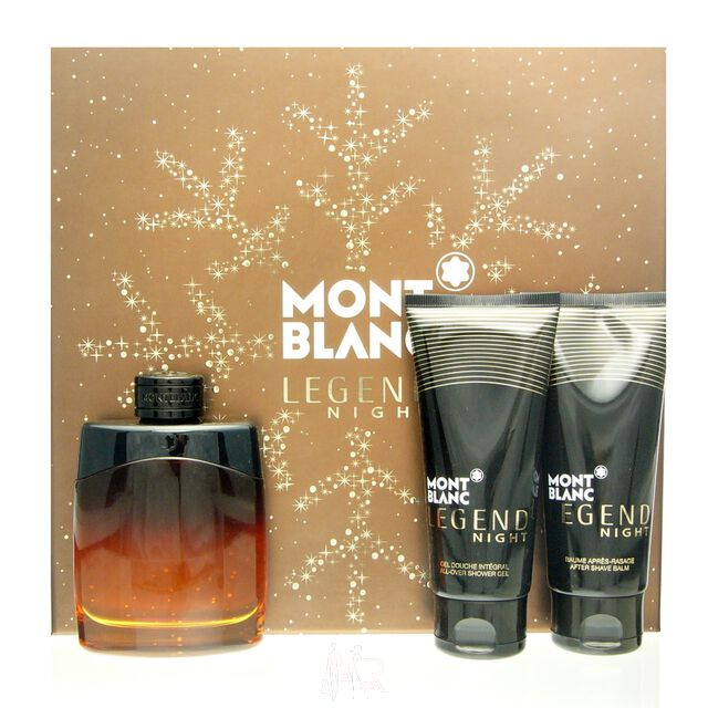 Mont Blanc Montblanc Legend Night Set - EDP 100 ml + ASB 100 ml + SG 100 ml