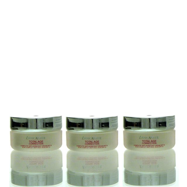 3x Lancaster Total Age Complete Anti Aging Day Cream Spf15 15 ml = 45 ml