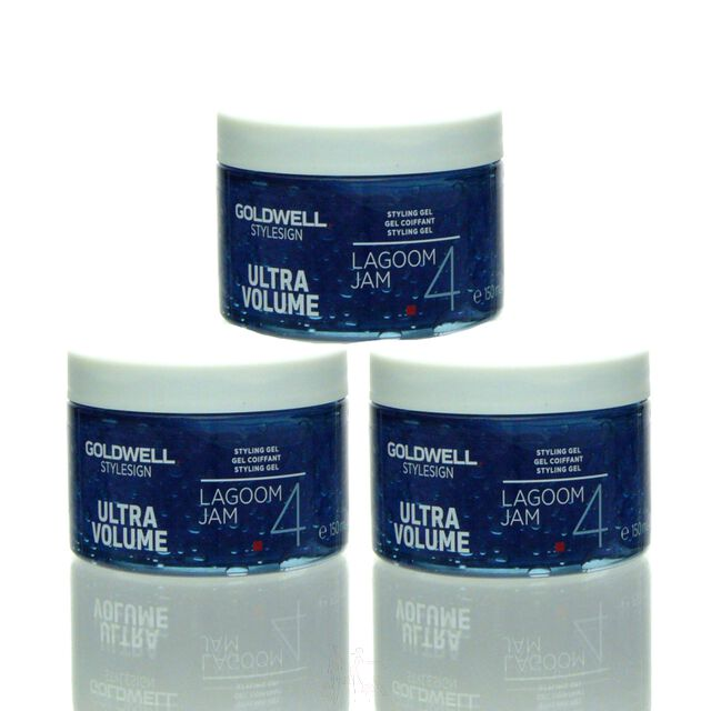 3x Goldwell Stylesign Ultra Volume Lagoom Jam Styling Gel 150 ml = 450 ml