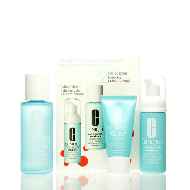 Clinique Anti Blemish Solutions 3 Step System Set - CF 50 ml + CL 100 ml + CT 30 ml
